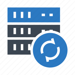 database, redo, reload, server, storage icon