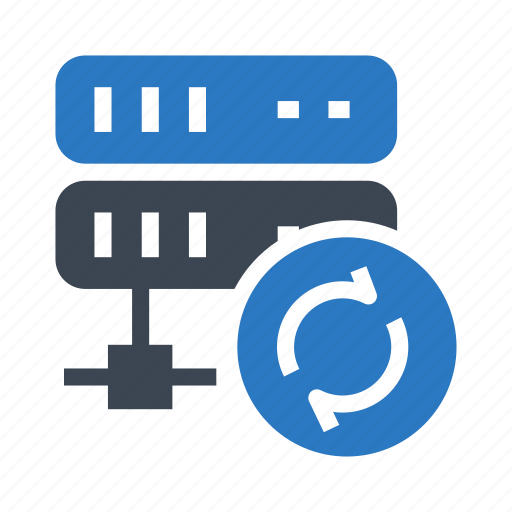datacenter, mainframe, reload, server, storage icon