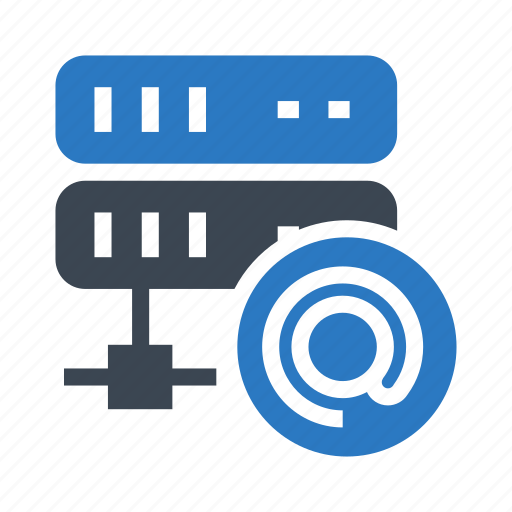 mail, mainframe, network, server, share icon