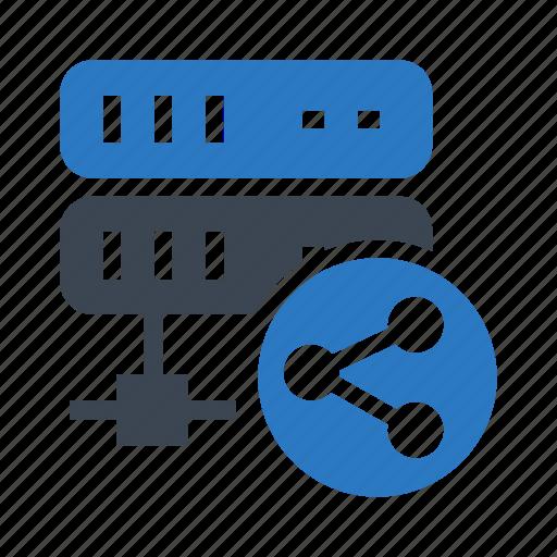 database, datacenter, server, share, storage icon