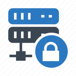 lock, protection, security, server, storage icon
