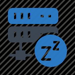 datacenter, mainframe, server, sleep, storage icon