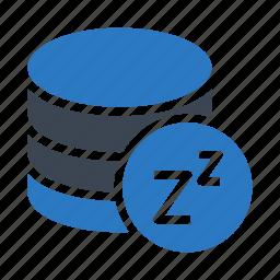 database, mainframe, server, sleep, storage icon