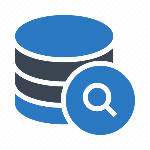 database, datacenter, mainframe, search, storage icon