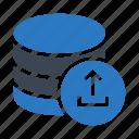 database, datacenter, mainframe, server, upload