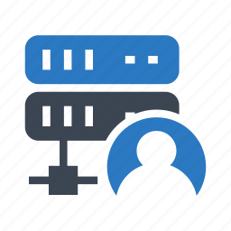 account, network, server, storage, user icon