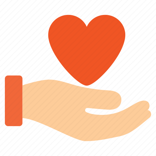 hand, health care, healthcare, heart, insurance, love, support icon