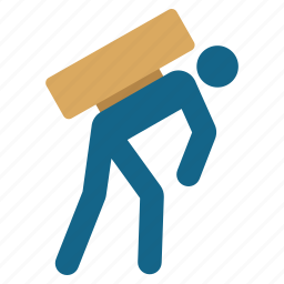 courier, delivery, employee, loader, shipment, work, worker icon