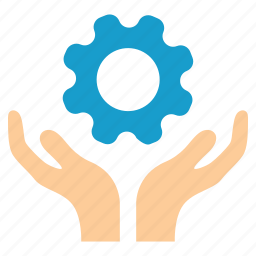 gear, handle, hands, maintenance, service, support, tools icon