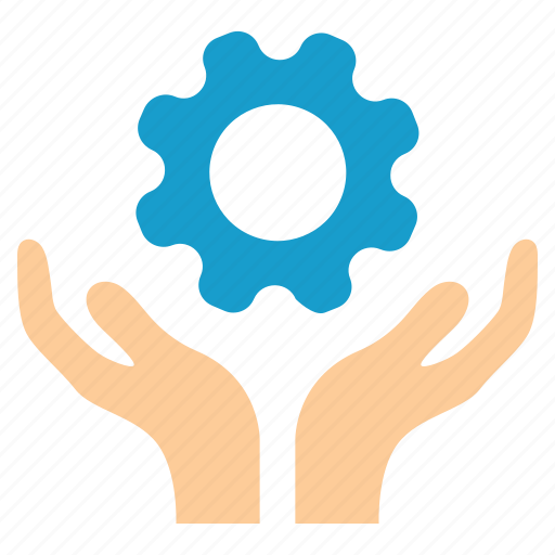 Maintenance, gear, handle, hands, service, support, tools icon - Download on Iconfinder