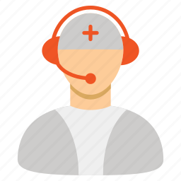 call center, doctor, emergency, medical, medicine, operator, reception icon