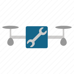 copter, drone, quadcopter, repair, service, support, tools icon