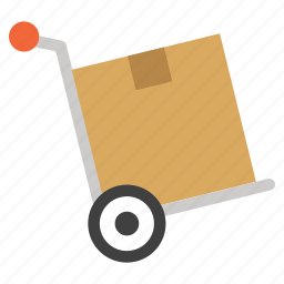 delivery, product, shipping, shopping cart, transportation, trolley, warehouse icon