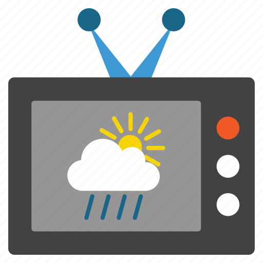 cloud, meteorology, prediction, television, temperature, tv, weather forecast icon