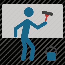 clean, glass, hygiene, job, wash, window cleaning, windows washing icon