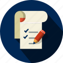 agreement, business, checklist, document, file, list, shopping icon