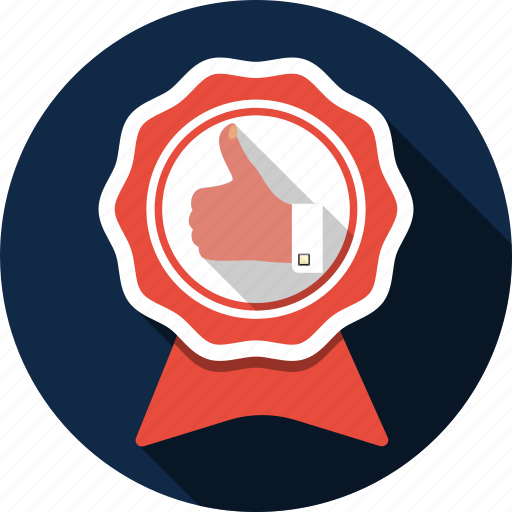 aproved, award, badge, like, medal, prize, trophy icon