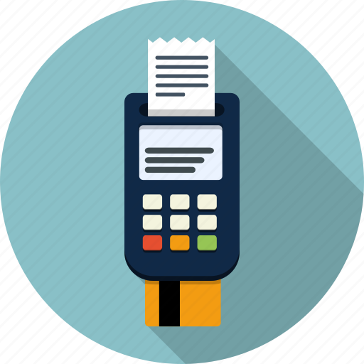 bank, business, card, device, money, pay, reader icon