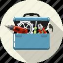 box, equipment, gear, repair, service, setting, tools icon