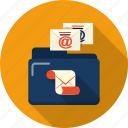 address, email, envelope, file, folder, letter, mail icon