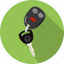 automobile, car, key, locked, password, private, safe icon