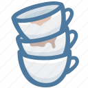 coffee shot, coffees, espresso cups, mugs, overlap, sleepless icon