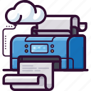 peripherals, cloud, paper, office, printer, document