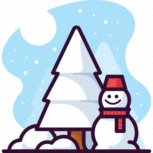 Christmas, snow, snowman, tree, winter icon - Download on Iconfinder