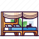 bed, cat, furniture, home, interior, sleep icon