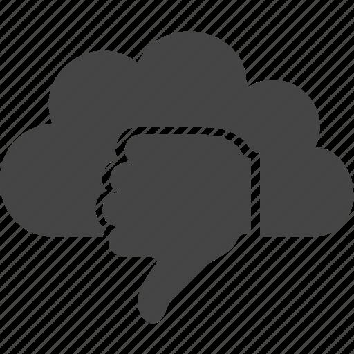 bad, cloud, finger, hand icon
