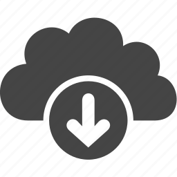 arrow, cloud, down, download, upload icon