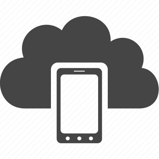 cloud, communication, phone, technology icon