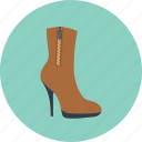 boot, fashion, girl, high, shoes, woman, women icon