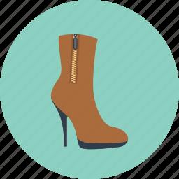 boot, fashion, girl, high, shoes, woman, women icon
