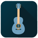 activity, guitar, hobby, instrument, music, song, sound icon