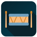 activity, drum, hobby, instrument, music, song, sound icon