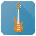 activity, bass guitar, hobby, instrument, music, song, sound icon