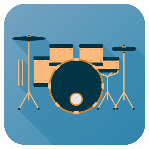 Activity, drum, hobby, instrument, music, set, sound icon - Download on Iconfinder