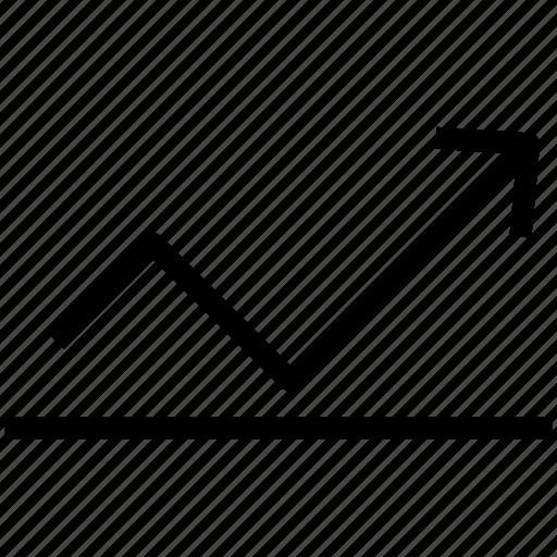 arrow, inflation, rate, statistics icon