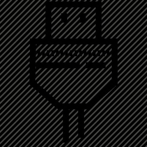 communication, connection, usb off, usb plug off icon