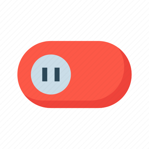 inactive, off, slide, switch, toggle icon