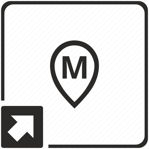 letter, m, map, point, shortcut icon