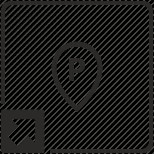 letter, map, p, point, shortcut icon