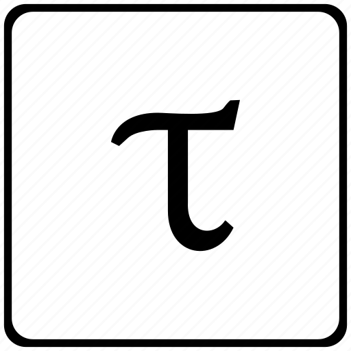 Alphabet Greek Letter Tau Icon