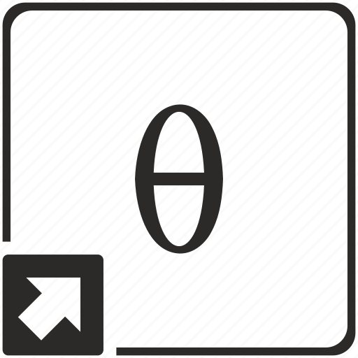 alphabet, greek, letter, theta icon