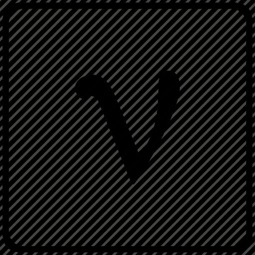 alphabet, greek, letter, upsilon icon