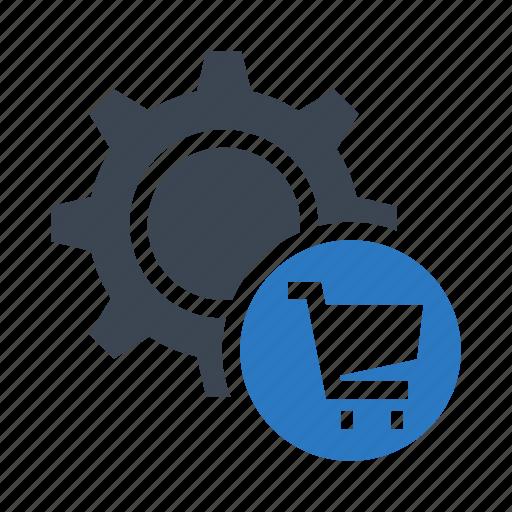 cart, configuration, gear, option, setting icon