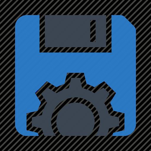 chip, configuration, floppy, option, setting icon