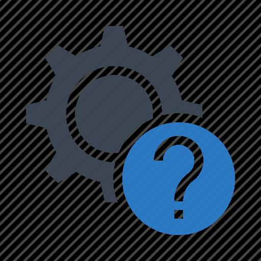 configuration, gear, help, option, setting icon