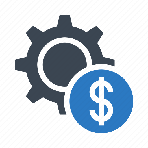 configuration, dollar, gear, option, setting icon